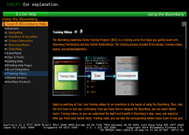 Bloomberg BESS screen