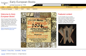 Early European Books website