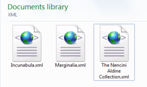 Artist's impression of XML files of early European books