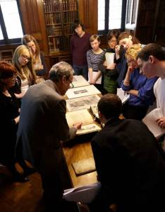 Study group at the John Rylands Library