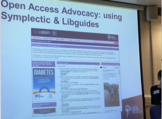 OA Advocacy 4 - Using Symplectic & Libguides