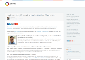 Altmetric early adopter post