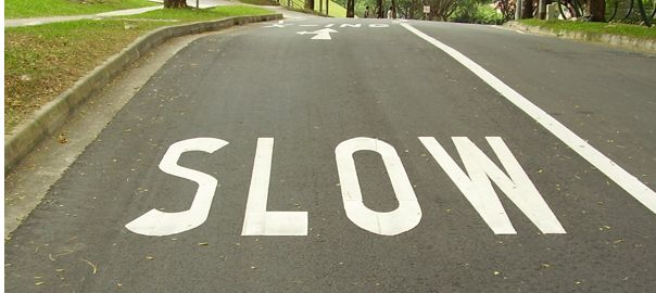 Slow, written on the road