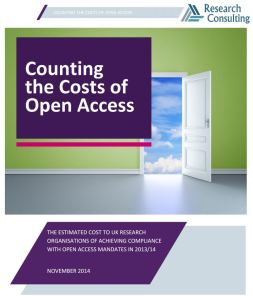 Counting the costs of open access