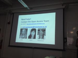 The Open Access team at The University of Manchester Library