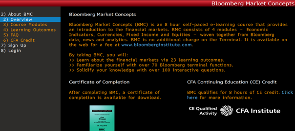 Bloomberg Market Concepts